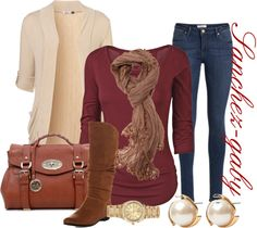 """Light Brown boots"" by sanchez-gaby on Polyvore"