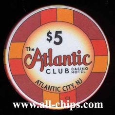 #AtlanticCityCasinoChip of the Day is a $5 Atlantic Club you can get here http://www.all-chips.com/ChipDetail.php?ChipID=14223 Atlantic Club went bankrupt to start the fall of Atlantic City #CasinoChip #AtlanticCity