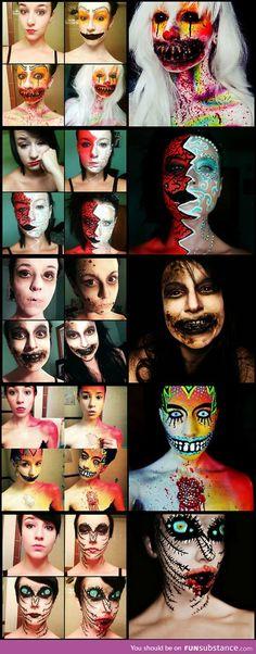 Maskenbildner Stephanie Fernandez - Halloween Make-up Halloween Zombie, Halloween Cosplay, Halloween Makeup, Halloween Party, Horror Make-up, Mascaras Halloween, Fantasias Halloween, Scary Makeup, Sfx Makeup