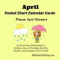 Free printable April