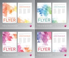 Colored flyer abstract design vector 04