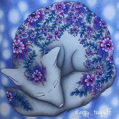 Foxy is finished #daydreams #dagdrömmar #hannakarlzon #fox #colouring #coloring #pencils #pencil #polychromos #prismacolor #coloring_masterpieces #beautifulcoloring #bayan_boyan #coloring_secrets