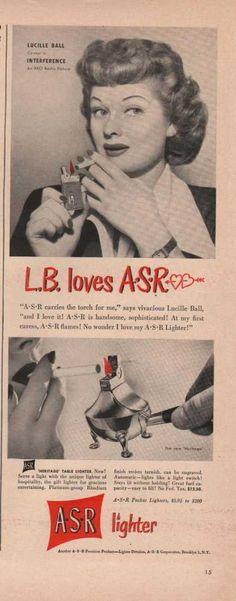 Asr Cigarette Lighter Lucille Ball Print A (1949)