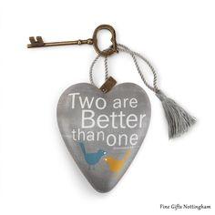 Studio by Demdaco Art Heart - Two Are Better Than One Sculptured Art Hearts 1003480062 #TwoAreBetterThanOneArtHeart #StudioByDemdeco #FineGiftsNottingham