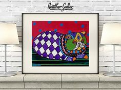 DIGITAL Print File - Persian Cat Art Poster Print of painting by Heather Galler (HG753)