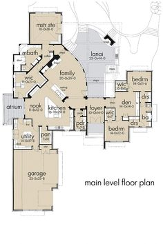 Like the layout for a shared bathroom on the right (own sinks - called drs (dressing room) on the plan)> The Plan, How To Plan, Dream House Plans, House Floor Plans, My Dream Home, Florida House Plans, Florida Home, Florida Style, Monster House Plans