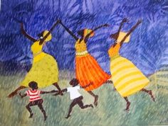 artist Julia Cairns / In Namibia it's so dry we really do a rain dance when the rains first come !