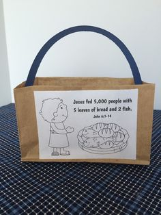 Jesus Feeds 5,000: The little boy's basket craft with printable.