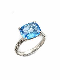 David Yurman - Blue Topaz & Sterling Silver Ring - Saks.com