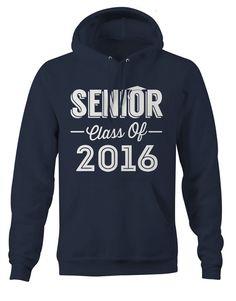 Men's Senior Class Of 2016 Seniors Hoodie Personalized Cap Graduate Hoodies Graduation Senior Pullover