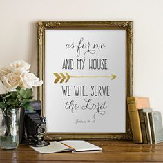 Hey, I found this really awesome Etsy listing at https://www.etsy.com/listing/223800472/printable-bible-verse-joshua-2415