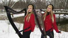 CAROL OF THE BELLS (Harp Twins) Camille and Kennerly, Harp Duet