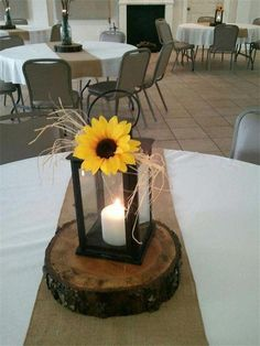 Sunflower wedding centerpieces rustic centerpiece ideas for summer and fall weddings sale table decoration Fall Sunflower Weddings, Sunflower Wedding Centerpieces, Sunflower Party, Wedding Table Centerpieces, Table Decorations, Centerpiece Ideas, Fall Lantern Centerpieces, Rustic Table Wedding, Sunflower Wedding Flowers