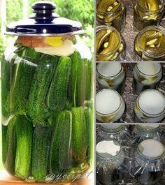 egycsipet: Kovászos uborka télre-nyárra Hungarian Recipes, Canning Recipes, Kefir, No Bake Cake, Love Food, Pickles, Cucumber, Side Dishes, Healthy Living