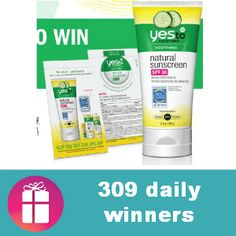 Enter DAILY for a chance to win a Yes to Cucumbers Natural Suscreen full-size product or sample (ends June 1) http://freebies4mom.com/yes-to-cucumbers/