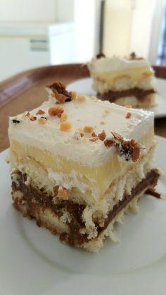Greek Sweets, Greek Desserts, Cold Desserts, Greek Recipes, Cookie Recipes, Dessert Recipes, Biscuits, Food Snapchat, No Bake Cake