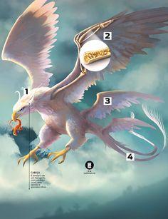 """Todo cuidado é pouco: ainda não se sabe o grau de periculosidade dessa ave típica da mitologia nativa-americana. Ela estreia em """"Animais Fantásticos"""" Harry Potter Anime, Harry Potter Halloween, Harry Potter Drawings, Harry Potter Tumblr, Harry Potter Fan Art, Magical Creatures, Fantasy Creatures, Encaustic Painting, Cat Armor"""