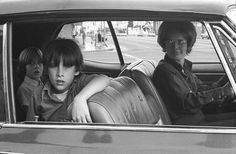 From the People in Cars series, North Hollywood, California, United States, 1970, photograph by Mike Mandel.
