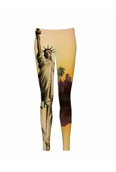 """$38 When you feel free, you know you can play with your appearance a little. The """"Liberty"""" leggings are a good choice for a free and creative spirit. They will help you become a unique person, whose free soul is in part manifested by clothes. The """"Liberty"""" is your best choice."""