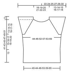 """Top raglan DROPS com ponto de ajours e mangas curtas, tricotado de cima para baixo (top down), em """"Cotton Light"""". Do S ao XXXL ~ DROPS Design"""