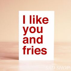 This is me in a nutshell. Funny Anniversary Card  I like you and by sadshop, $5.00