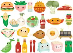 Still a sucker for stickers! Some things never change :) 24 Sticker Collections Food Stickers, Kawaii Stickers, Printable Stickers, Cute Stickers, Planner Stickers, Kawaii Doodles, Kawaii Art, Kawaii Anime, Kawaii Illustration