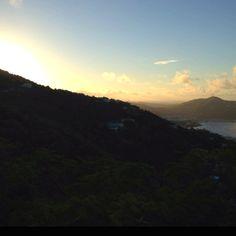Sunrise over Charlotte Amalie in St. Thomas US Virgin Islands during Juve: Carnival 2012