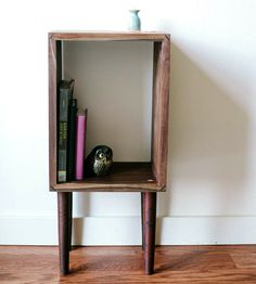 Reclaimed Wood Storage Nightstand by Carlino on Scoutmob Shoppe. A sleek little stand, handcrafted from reclaimed black walnut and cherry.