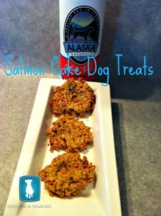 Salmon Cake, Salmon Cake, Baker's Man? Nope. Just a simple and yummy treat made by you for your dog! Check out the Salmon Cake Dog Treat recipe from Dog Pack Snacks on the Healthy Dog Blog! #recipe #dogrecipe #dogtreatrecipe #dogs #dogtreats