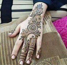 61 Easy, Simple and Traditional Henna Arabic Mehndi Designs - Sensod - Create. Mehndi Design Pictures, Modern Mehndi Designs, Bridal Henna Designs, Beautiful Henna Designs, Arabic Mehndi Designs, Mehndi Patterns, Mehndi Designs For Hands, Mehndi Images, Beautiful Mehndi