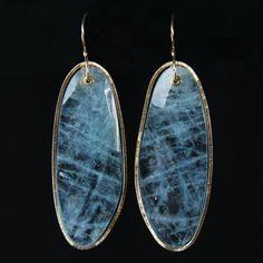 Jamie Joseph Aquamarine Saturn Earrings