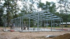 The steel building homes industry continues to grow as more people learn how energy efficient and durable metal houses are. We feature the best residential architecture designs and architects around the US. Home Building Kits, Metal Shop Building, Steel Building Homes, Building A House, Pole Barn House Kits, Barn Kits, Pole Barn Homes, Barn Houses, Steel Frame House