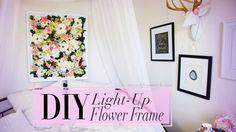 DIY Light-Up Flower Frame Backdrop Room Decor | ANNEORSHINE | Ann Le Style
