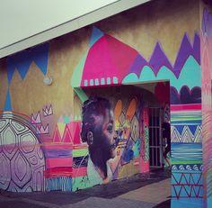 FREDDYSAM - The artwork of Cape Town based street artist FREDDY SAM South African Artists, Street Art Graffiti, Mural Art, Street Artists, Illustration Art, Illustrations, Comic Art, First Love, Colours