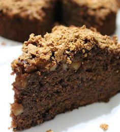 Torta+di+mele+e+cioccolato+in+crosta+di+amaretti