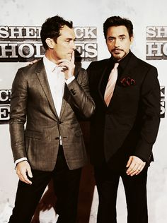 "Jude Law and RDJ, ""Sherlock Holmes"" co-stars."