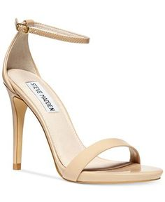 A chic, barely-there silhouette will make your look come alive. The Stecy two-piece sandals by Steve Madden.   Leather or fabric upper; lining: leather; manmade sole   Imported   Fabric contents and c