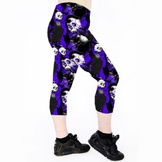 CATS & CROWS Cats & Crows Capri Leggings are made from 100% polyester… Running Leggings. Cycle Leggings Cycling Leggings. Roller Derby Leggings. Exercise Leggings. Workout Leggings. Dance Leggings. Gym Leggings. Fitness Leggings. Yoga Leggings. Pole Dance Leggings. Pole Leggings. Pilates Leggings. Cat Leggings. Raven leggings. Crow Leggings. Gothic Leggings. Halloween leggings. Skull Leggings.