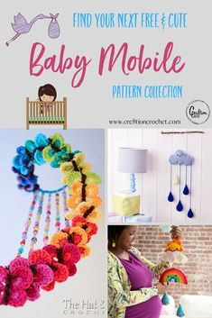 Cute Baby Mobile Pattern Collection - I don't even have babies anymore, I just want to decorate my house with these be because they're so cure!