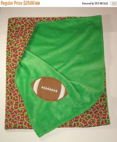 Personalized baby blanket toddler blanket applique design choice clearance sale large baby boy blanket football blanket minky blanket lap blanket negle