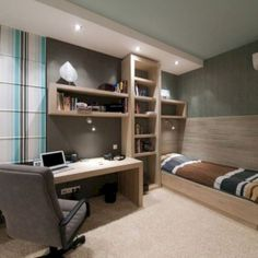 Cool bedroom ideas for teenage guys small rooms teenage room colors for guys small bedroom ideas for teenage guys teen boy room ideas awesome cool bedroom Boys Bedroom Decor, Trendy Bedroom, Bedroom Furniture, Cozy Bedroom, Office Furniture, Master Bedroom, Furniture Ideas, Bedroom Modern, Bedroom Office