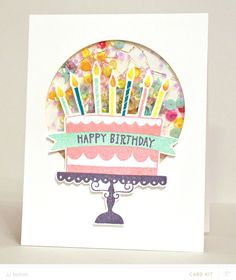 JJ Bolton {Handmade Cards}: Happy Birthday Shaker Card - a  Silhouette project