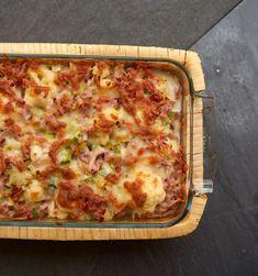 Krema blomkålform med skinke - LINDASTUHAUG Lchf, Keto, Norwegian Food, Good Food, Yummy Food, Lasagna, Nom Nom, Dinner Recipes, Food And Drink