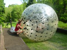 Hydro-Zorbing in London | Emma's Bucket List