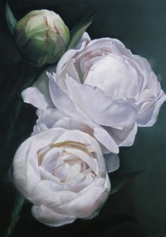 thomas darnell artist | ... Thomas Darnell - Peonies 2'1.25x3' Fine Art Prints and Posters for