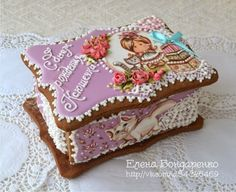 Пряничное волшебство Елены Бондаренко Fun Cookies, Cake Cookies, Gingerbread Houses, Beautiful Cakes, Cookie Decorating, Cake Pops, Kitchen, Desserts, Christmas