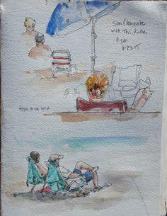 Urban Sketchers: San Clemente State Beach