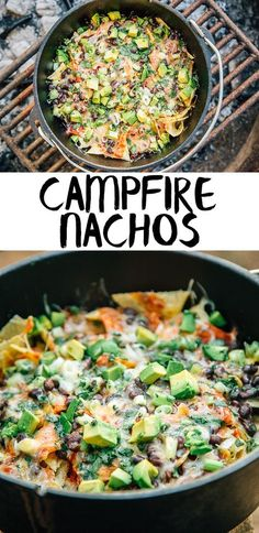 Campfire Nachos made
