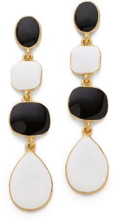 Kenneth Jay Lane Enamel Drop Earrings