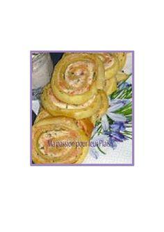 escargot feuilleté au saumon